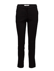 Crop slim-fit trousers - BLACK