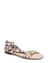 Straps printed sandals - LIGHT BEIGE