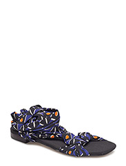 Straps printed sandals - NAVY