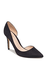 Asymmetric stiletto shoes - BLACK