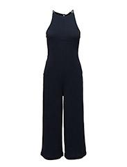Halter neck jumpsuit - MEDIUM BLUE