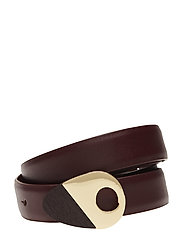 Metal buckle belt - DARK RED