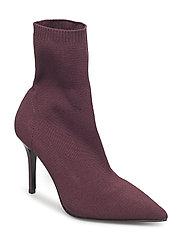 Heel sock boots - DARK RED