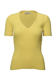 Ribbed top - YELLOW