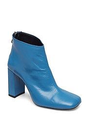 Heel leather ankle boot - MEDIUM BLUE