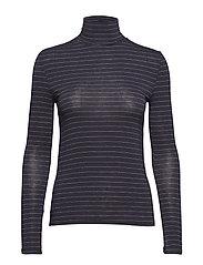 Metallic thread t-shirt - NAVY