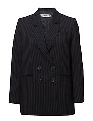 Striped structured blazer - NAVY