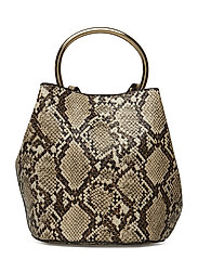 Metallic handle bag - LIGHT BEIGE