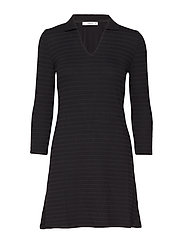 Striped shirt dress - BLACK