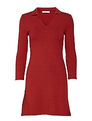 Striped shirt dress - RED