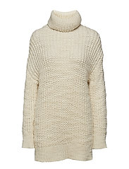 Chunky-knit sweater - LIGHT BEIGE