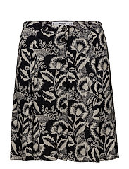 Printed button skirt - NAVY