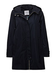 Hooded water-repellent parka - NAVY