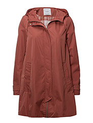 Hooded water-repellent parka - PINK