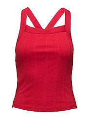 Ribbed top - RED