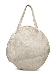 Round shopper bag - LIGHT BEIGE