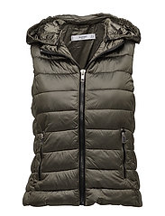 Detachable hooded gilet - BEIGE - KHAKI