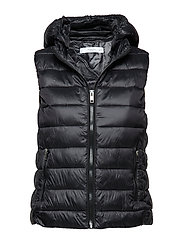 Detachable hooded gilet - BLACK