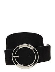 Rounded buckle belt - BLACK