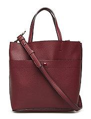 Pebbled shopper bag - DARK RED
