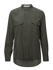 Decorative pocketed shirt - BEIGE - KHAKI
