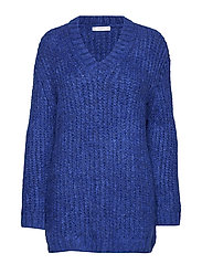 Chunky-knit sweater - MEDIUM BLUE