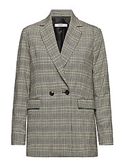 Check Structured blazer - GREY