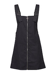 Pockets pinafore dress - NAVY