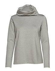 Cowl turtle neck modal sweatshirt - GREY