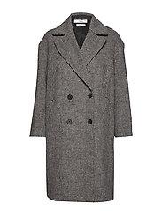 Lapels wool coat - MEDIUM GREY