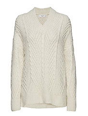 Chunky-knit sweater - LIGHT BEIGE