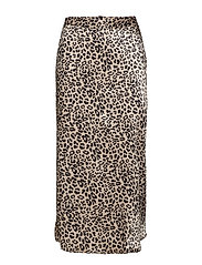 Leopard skirt - BLACK