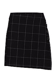 Check miniskirt - BLACK