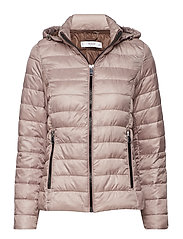 Mixed quilted jacket - LT-PASTEL PINK