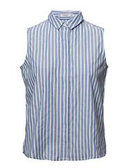 Buttons details shirt - MEDIUM BLUE