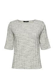 Ribbed t-shirt - GREY