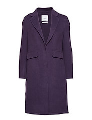 Lapels wool coat - MEDIUM PURPLE
