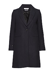 Masculine structured coat - NAVY