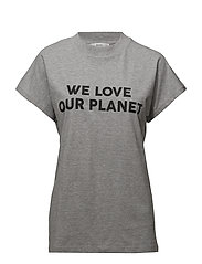 Organic cotton message t-shirt - MEDIUM GREY