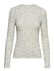 Ribbed cotton t-shirt - GREY