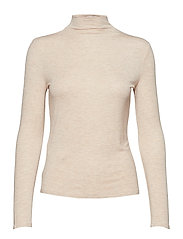 Flecked t-shirt - LT PASTEL BROWN