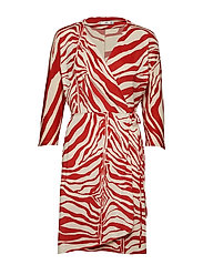 Print wrap dress - NATURAL WHITE