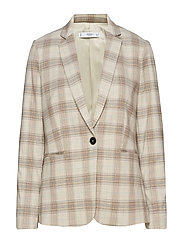 Check suit blazer - LIGHT BEIGE