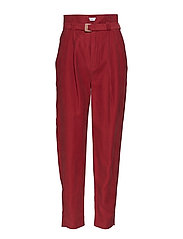 Straight suit trousers - MEDIUM RED