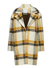 Unstructured virgin wool coat - MEDIUM YELLOW