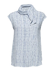 Striped blouse - MEDIUM BLUE