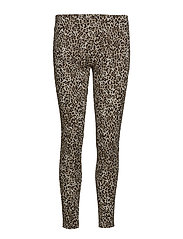 Leopard print leggings - BROWN