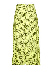 Polka dots midi skirt - BRIGHT YELLOW
