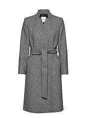 Houndstooth coat - LIGHT BEIGE