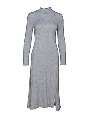 Knit long dress - LT PASTEL GREY